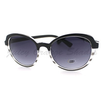 Womens Sunglasses Classic Casual Fashion Sunnies 2-Tone Print BLACK - $7.87