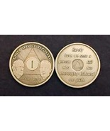 12 YR  Anniversary BILL & BOB AA Alcoholic Recovery Bronze Medallion *ST... - €4,02 EUR
