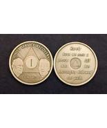 21 YR Anniversary BILL & BOB AA Alcoholic Recovery Bronze Medallion *STO... - $4.50
