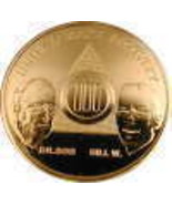28 Year AA Gold Tone Alcoholic Recovery Medallion Coin *STOC - $13.50