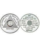 3 Year AA Silver-Tone Alcoholic Recovery Medallion Coin **STOCK PIC* - €7,55 EUR