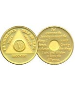 8 Year AA Gold Tone Alcoholic Recovery Medallion Coin *STOCK - €11,23 EUR