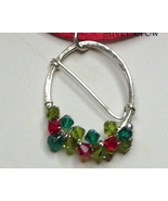 Swarovski Crystal & Argentium Sterling Wreath Style Pendant Necklace - $17.99