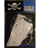 3' by 5' Black & White Skull and Crossbones with Red Eyes Pirate Hallowe... - $5.99