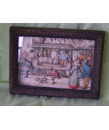 Layered Picture, Framed, Victorian Street Scene - $20.00