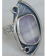 Purple glass ring RHM 125 - $29.00