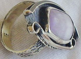 Purple glass ring RHM 125