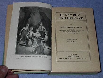Sunny Boy and his Cave 1930 Ramy White Juvenile Series Book