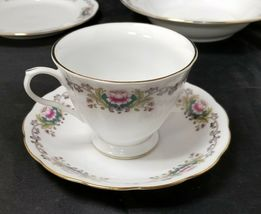Chinese Fine Bone China Set of 32, 8 Each Soup Bowls, Cups, Saucers, Bread Plate image 4