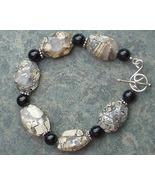 Silverleaf, Black Onyx Gemstones & Sterling Silver Bracelet - $25.99