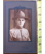 WWI Cabinet Card Photo Doughboy Date/Name 12/25/18! - $20.00