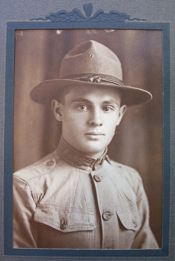 WWI Cabinet Card Photo Doughboy Date/Name 12/25/18!
