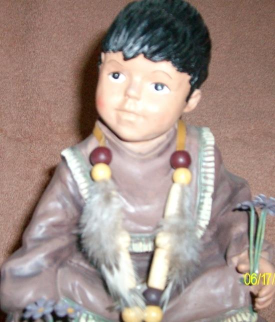 Yoki Indian Baby Table Figurine