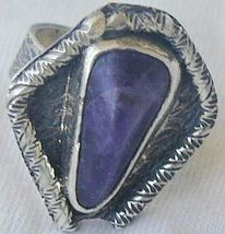 Purple pressed glass ring RHM 126 - $31.00