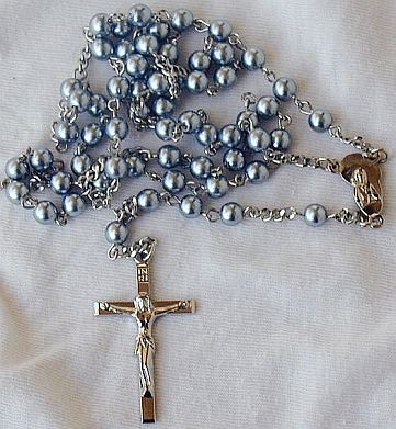 Gray pearls Rosary