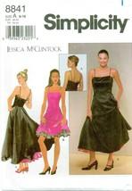 Simplicity 8841 Misses Dress Gown 6-16 Jessica McClintock VTG Pattern UN... - $29.65