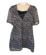 R*Q*T Multi-Colored Top Camisole Size PM MSRP $38.00 New - $9.99