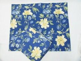 Laura Ashley Emilie Yellow Floral Blue 2-PC Window Valances - $46.00