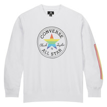 Converse Mens Pride Crew Fleece Sweatshirt 10018563-A01 White Multi Size... - $35.75