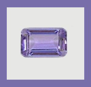 Tanzanite emerald cut 0.55ct