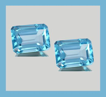 4.00ctw Natural SWISS BLUE TOPAZ EC Loose Gemstones