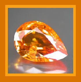 Sapphire pear orange  small 4.6x3.1 0.32ct