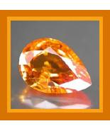 0.32ct Natural Orange SAPPHIRE Pear Faceted Loose Gemstone - $22.00