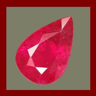 1.75ct Natural RUBY Pear 9x6mm Faceted Loose Gemstone