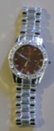Platinum Ballin Red  Watch / Square Bezel Hiphop Watch