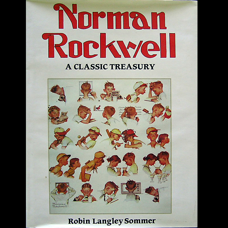 Primary image for Norman Rockwell Classic Treasury HC/DJ OOP  & Scarce!