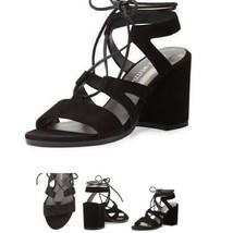Stuart Weitzman Tiegirl Women's High Heels Sandals Black Suede SIZE US 9 W $425 - $152.63