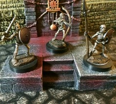 3x Skeleton Miniature Painted Undead Reaper Bones D&D DnD Pathfinder Warhammer - $24.00