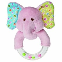 Mary Meyer Ring Baby Rattle, Ella Bella Elephant, 5-Inch - $8.99