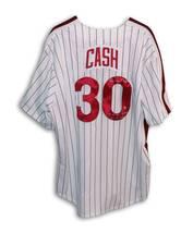 Dave Cash Phillies Autographed Majestic Pinstripe Jersey 2 Inscriptions - $149.00