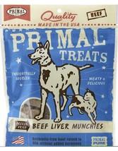 PRIMAL BEEF LIVER MUNCHIES FREEZE DRIED DOG & CAT TREATS 2 oz bag - $13.71