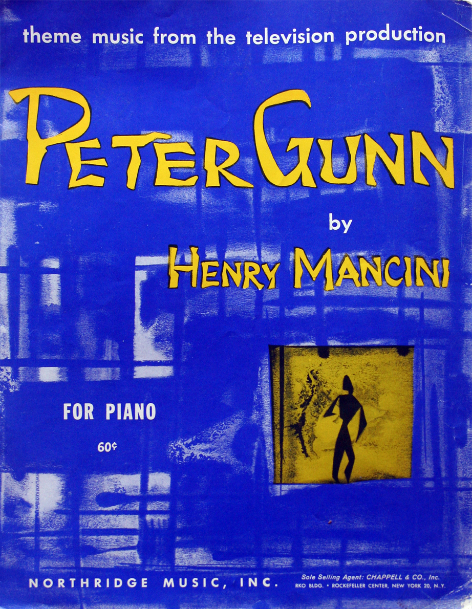 1959 PETER GUNN Theme Sheet Music Henry Mancini