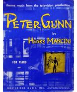1959 PETER GUNN Theme Sheet Music Henry Mancini - $3.00