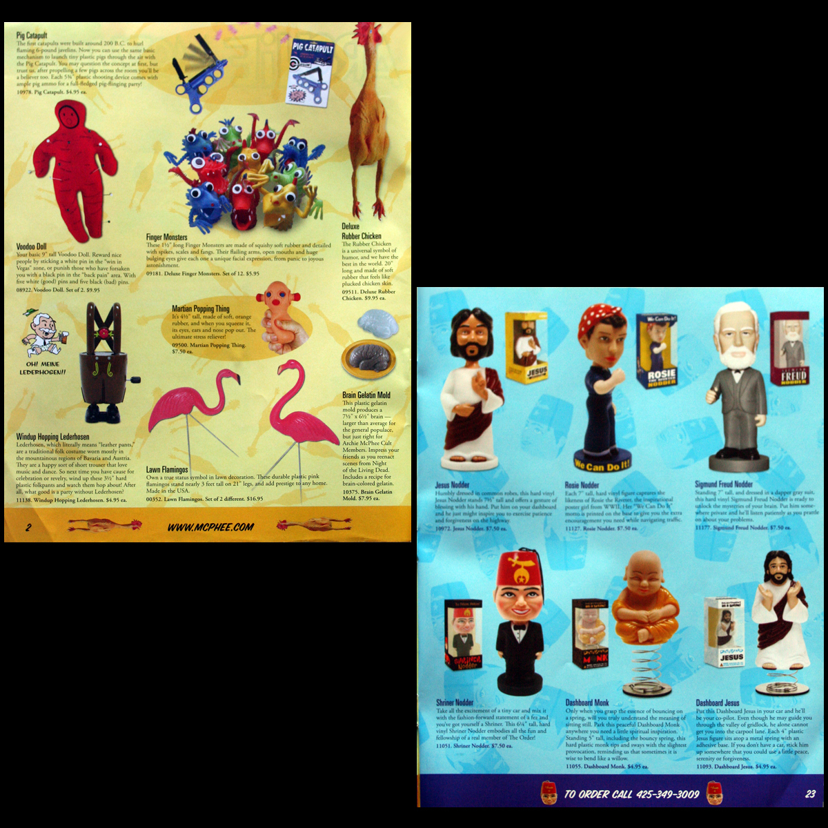 2003 Archie McPhee Pop Culture Novelty Catalog