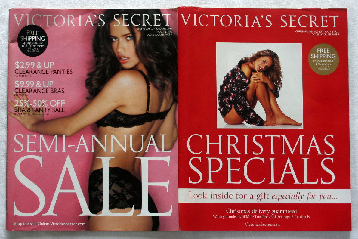 Primary image for 2 Victoria's Secret Catalogs 2003 & 2004  ADRIANA LIMA