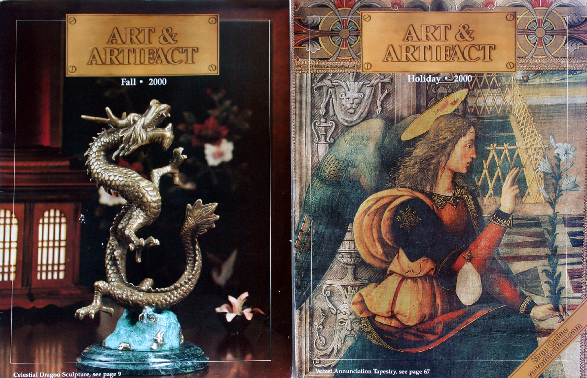 2000 Art & Artifact Catalogs Dragons,Fantasy Dresses,Curios