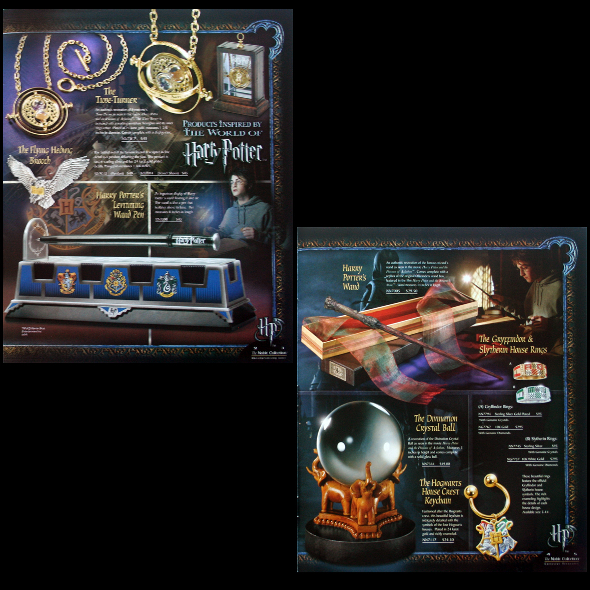 2003/2004 Noble Collection Catalogs Harry Potter,LOTR