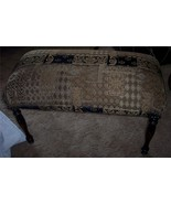 English Black Beige Print End of Bed Bench/Entry Bench - $362.28