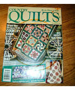 Country Quilts Fall Winter 1987 Issue By The Editors of Quil - $3.50