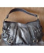 ISABELLA FIORE Sonya Glitter Metallic Pewter Leather Hobo Bag (MAKE AN O... - $321.75