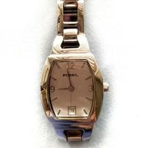 Fossil Stainless Steel Link Womans Watch F2 ES-9824 Water Resistant 100 ... - $19.99