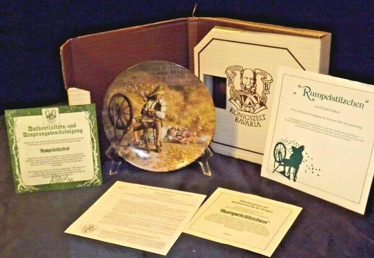 "Königszelt Bavaria ""Rumpelstilzchen"" Commemorative Plate by Charles Gehm AA20-CP"