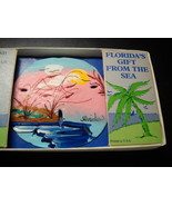 Florida Sand Dollar Souvenir Hand Painted Original Box Walt Disney Price Sticker - $10.99