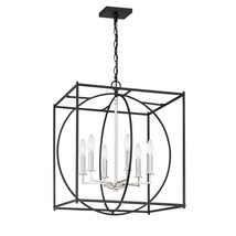 Quoizel Lighting-CSW5206EK-Crosswise - Six Light Foyer  Earth Black Finish - $399.99