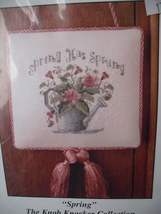 Kit: Small Knob Knocker Counted Cross Stitch KK-4 Light Pink Cloth & Thr... - $5.99