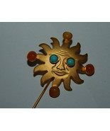 Gale Rothstein II Sun Stick Pin with Natural Gemstones With Dangling sto... - $39.99
